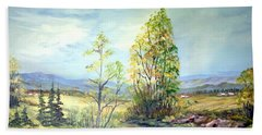 Beach Towel featuring the painting Summer Time by Dorothy Maier