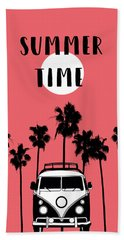 Summer Time Red Beach Towel