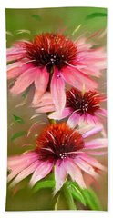 Beach Towel featuring the photograph Summer Trio by Mary Timman