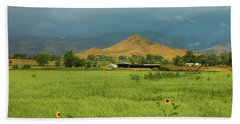 Beach Towel featuring the photograph Summer View Of  Hay Stack Mountain by James BO Insogna