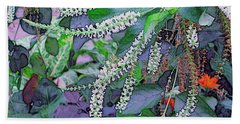 Summer White Beach Towel by Kathie Chicoine