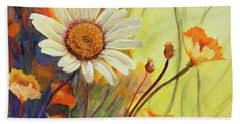Summer Wild Flowers Beach Towel