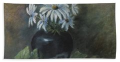 Beach Towel featuring the painting Summer's Delight by Katalin Luczay