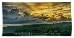 Summersville Lake Sunrise Beach Towel