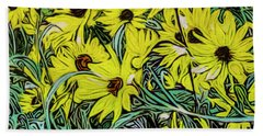 Summertime Faces Beach Towel by Ron Richard Baviello
