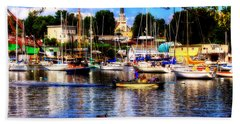 Summertime On The Harbor Beach Towel