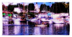 Summertime On The Harbor II Beach Towel