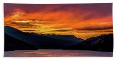 Summit Cove Sunset At Lake Dillon Beach Towel by Stephen Johnson
