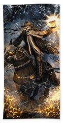 Summoned Skull Fantasy Art Beach Sheet