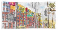 Sunset Blvd, And Hayworth, West Hollywood Beach Towel