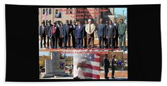 Beach Towel featuring the photograph Sumter County Memorial Of Honor by Jerry Battle