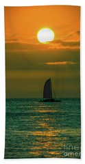 Sun And Sail Beach Towel by Mitch Shindelbower