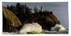 Sun And Surf With Lighthouse Beach Towel