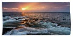 Sun Beams Halibut Pt. Rockport Ma. Beach Towel by Michael Hubley