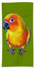 Sun Conure Parrot Beach Towel