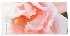 Sun-drenched Rose Beach Towel