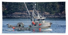 Sun Fisher Off Campbell River Beach Towel