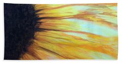 Sun Flower Beach Towel by Sheron Petrie