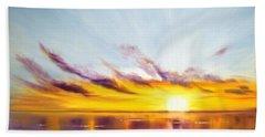Sun In A Lake Beach Sheet