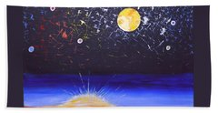 Sun Moon And Stars Beach Sheet by Donna Blossom