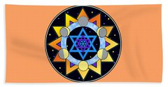 Sun, Moon, Stars Beach Towel