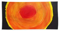 Beach Towel featuring the painting Sun One   by Don Koester