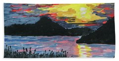 Sun Over The Water Beach Towel by R Kyllo