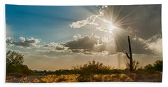 Beach Towel featuring the photograph Sun Rays In Tucson by Dan McManus