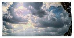 Sun Rays Over Miami Beach Towel
