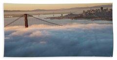 Beach Towel featuring the photograph Sun Rise At Golden Gate Bridge by David Bearden