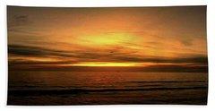 Sun Set On The Gulf Beach Towel