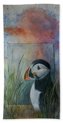 Sun Set Puffin Beach Towel