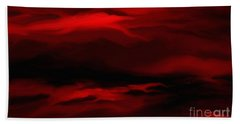 Sun Sets In Red Beach Towel