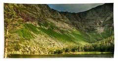 Sun Shining On Chimney Pond  Beach Towel
