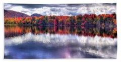 Beach Towel featuring the photograph Sun Streaks On West Lake by David Patterson
