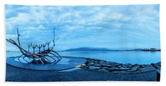 Sun Voyager Viking Ship In Iceland Beach Towel