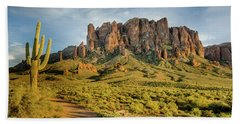 Sunbreak At Lost Dutchman Beach Towel by Greg Nyquist