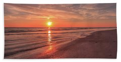 Sunburst At Sunset Beach Towel