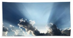 Beach Towel featuring the photograph Sunburst by Jeff Iverson