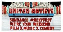 Sundance Next Fest Theatre Sign 1 Beach Sheet
