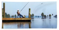 Sunday Fisherman Beach Towel by Deborah Smith