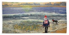 Sunday Morning Game Day Beach Towel