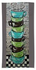 Sundays Cup A Joe Dark Roast Beach Towel by Jackie Carpenter