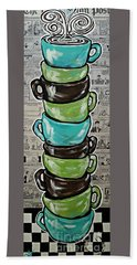 Sundays Cup A Joe Dark Roast Beach Sheet by Jackie Carpenter