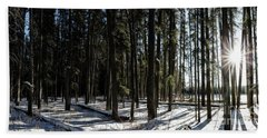Beach Towel featuring the photograph Sundial Forest by Brad Allen Fine Art