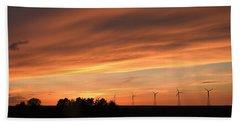 Sundown And Silhouettes Beach Towel by Kathy M Krause