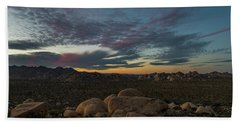 Sundown From Hilltop View Beach Towel