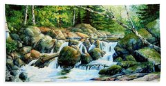 Beach Towel featuring the painting Sunfish Creek by Hanne Lore Koehler