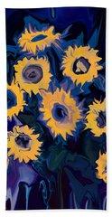Beach Sheet featuring the digital art Sunflower 1 by Rabi Khan
