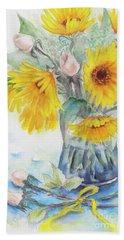 Sunflower-4 Beach Towel